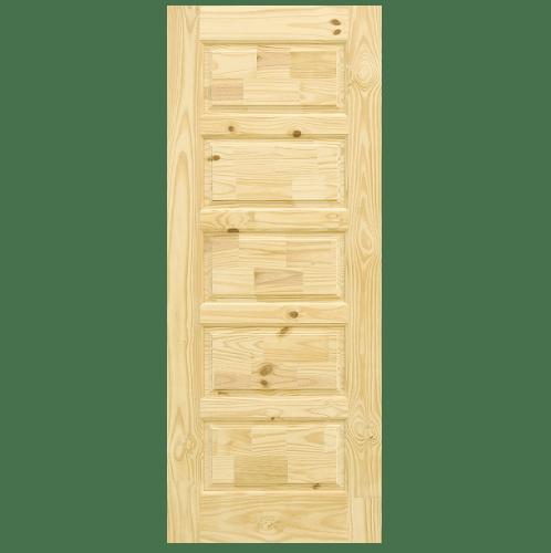 D2D ประตูไม้สนนิวซีแลนด์ ขนาด 90x200 cm.  Eco Pine-022