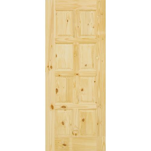 D2D ประตูไม้สนนิวซีแลนด์ ขนาด  80x203cm.  Eco Pine-016