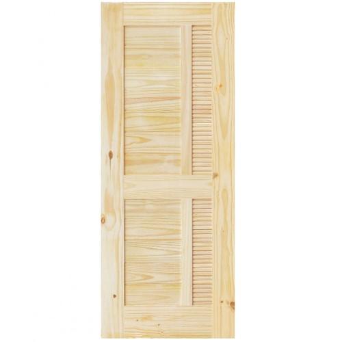 D2D ประตูไม้สนนิวซีแลนด์ ขนาด 70x191cm.  Eco Pine-019