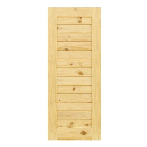 - ประตูไม้สนนิวซีแลนด์ ขนาด 80x160cm.  Eco Pine-001