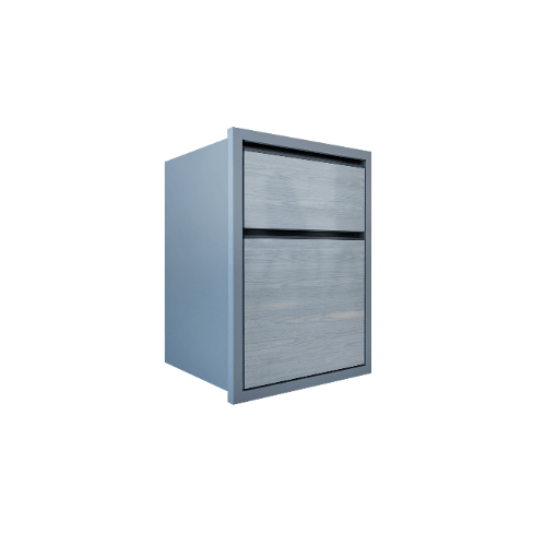 MJ ตู้ลิ้นชัก  HG-F604-GW สีเทาลายไม้ null