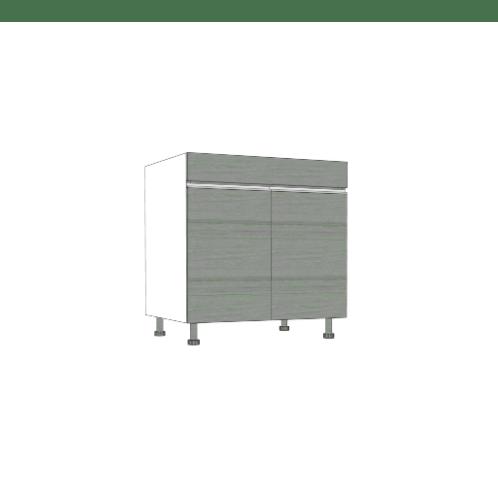 ตู้ตั้งพื้นสำหรับอ่างซิงค์ SAV-JWS829-GW สีเทาลายไม้ MJ  เทา