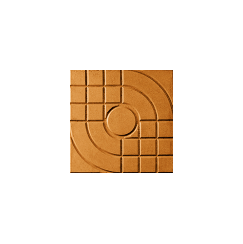 Dura one ซีเมนต์ตกแต่งพื้น ดูร่าวัน ลายสานเส้น 40x40x3.5 สีส้ม ลายสานเส้น  สีสีส้ม