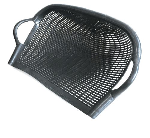 W.PLASTIC บุ้งกี๋หวาย ขนาด 35.5x54x22 ซม. สีดำ