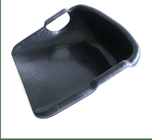 W.PLASTIC บุ้งกี๋เรียบทึบ  ขนาด 41.5x42.5x17 ซม. ดำ