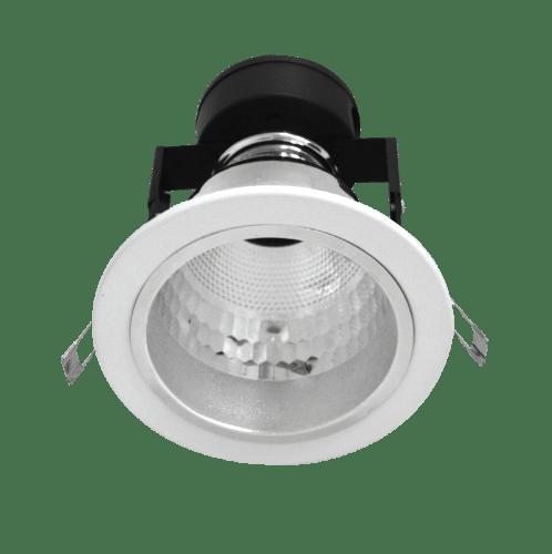 LAMPTAN โคมดาวน์ไลท์ฝังฝ้า 4 นิ้ว หน้ากลม ขอบขาว E27 รุ่นอลิกซ์ ALIX สีขาว