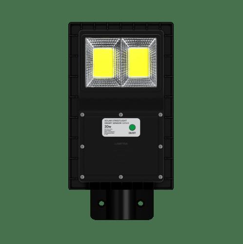 LAMPTAN โคมไฟถนน โซล่าร์เซลล์ LED 30W แสงเดย์ไลท์ รุ่นสมาร์ทเซ็นเซอร์ จีนิกซ์ IP65 สมาร์ทเซ็นเซอร์ จีนิกซ์  สีดำ