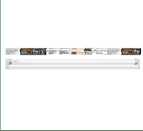 LAMPTAN ชุดราง LED T8 9W พร้อมหลอด สมาร์ทเซฟ แสงเดย์ไลท์ สีขาว