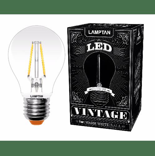 LAMPTAN หลอดแอลอีดี Vintage Ball 1W. วอร์มไวท์  P.10   สีขาว