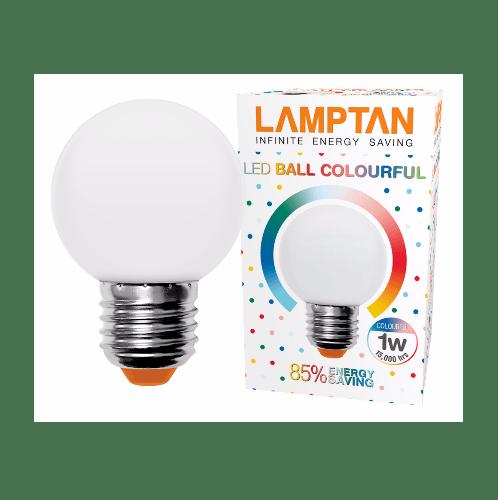 LAMPTAN หลอด LED บอล คัลเลอร์ฟูล  1w สีขาว