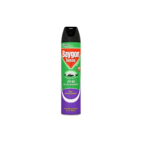 ไบกอนเขียวสเปรย์ กลิ่นลาเวนเดอร์ 600 มล.  เขียว