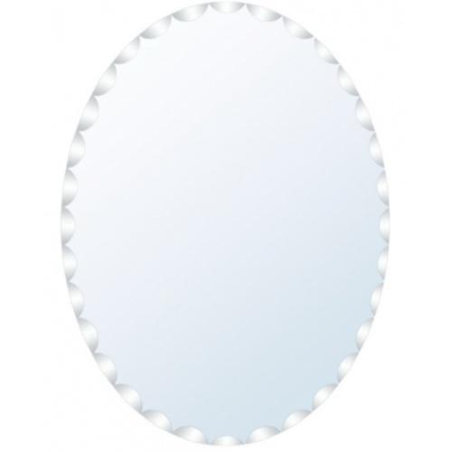 NICE กระจกเงาทรงรี ขนาด 45x60ซม.  PQS-XS6045A สีขาว
