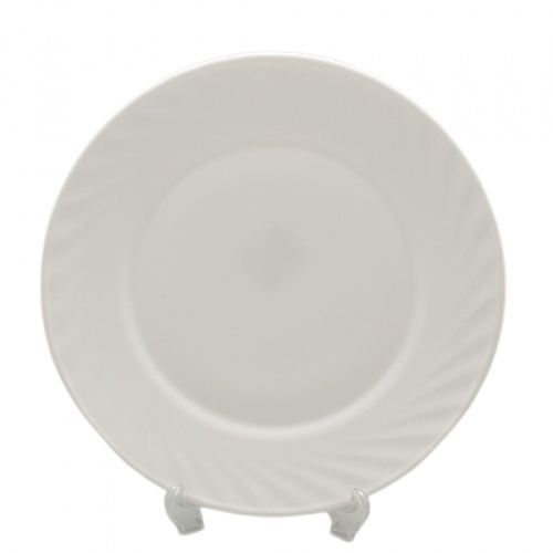 ADAMAS จานโอปอล 10  นิ้ว PLATE-XP100 สีขาว