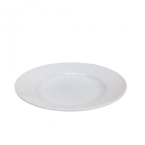 ADAMAS จานโอปอลขอบริ้ว 9 นิ้ว SOUP PLATE-XTP90 สีขาว