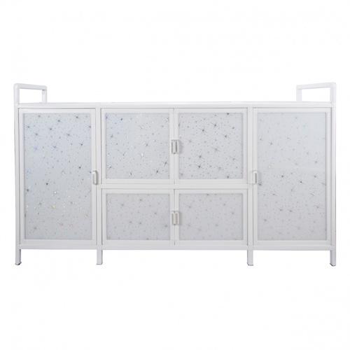 CROWN ตู้อเนกประสงค์ในครัว 155x43x87 ซม. PQS-LGZ7-1 สีขาว