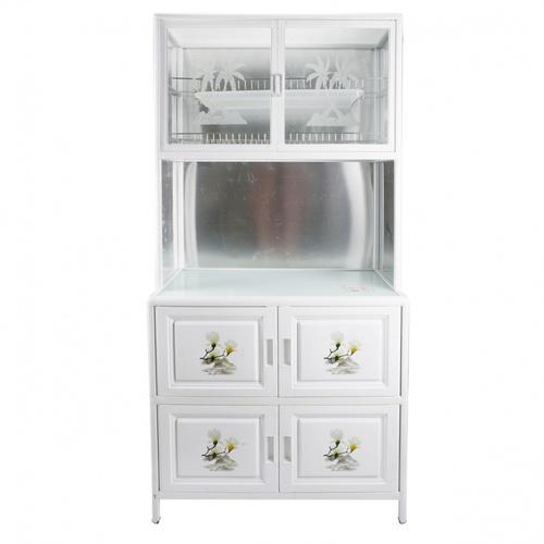 CROWN ตู้อเนกประสงค์ในครัว 80x42x140 ซม.  PQS-LGZ6 สีขาว