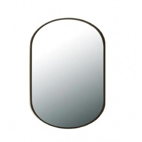 NICE กระจกมีกรอบทรงรี (ST) ขนาด 60x80cm  บิลลี่ PQS-XS8060-B สีดำ