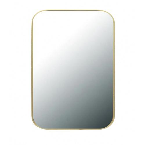 NICE กระจกมีกรอบทรงเหลี่ยม (ST)  ขนาด 60x80cm  คอตต้า PQS-XS8060-G1  สีทอง