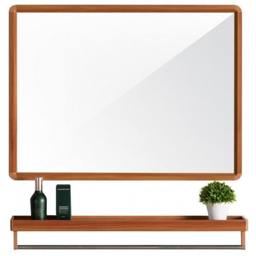 NICE ชุดกระจกอะลูมิเนียม 60X40 ซม.  ลายไม้ อาบิเกล GBH-LZ72104