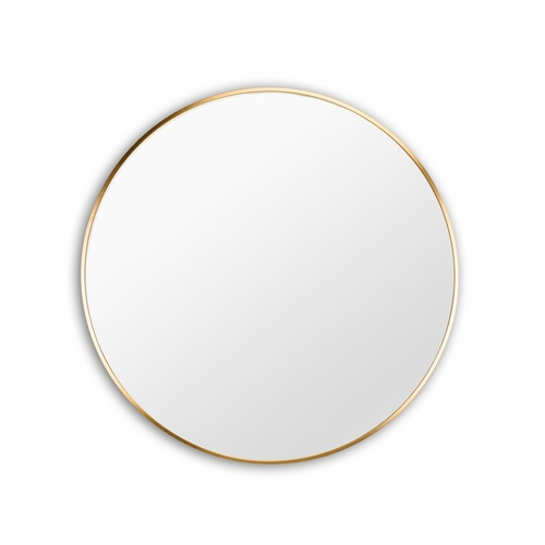 NICE ชุดกระจกอะลูมิเนียมทรงกลม ขนาด 80X80 ซม.  วอลโล่-โกลด์ สีทอง