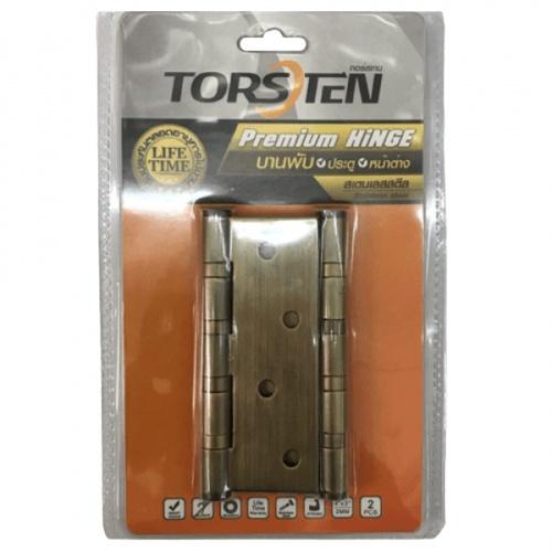TORSTEN บานพับสเตนเลส ขนาด4*3*2mm.2ชิ้น สีทองเหลืองรมดำ HSS-4320BZ2