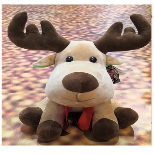 USUPSO หมอนตุ๊กตากวาง Elk ขนาด  20ซม. สีน้ำตาลเข้ม