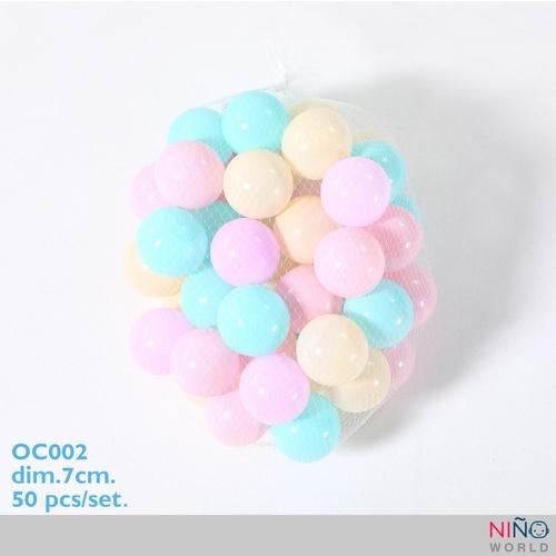 NINO WORLD ลูกบอล PE ขนาด 7ซม. 50 pcs/ชุด OC002