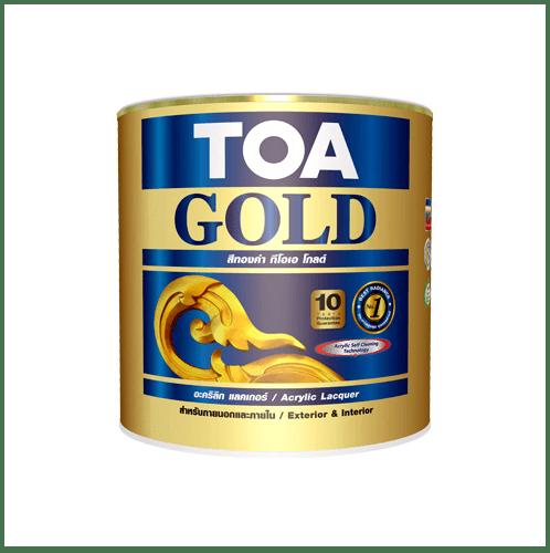 TOA โกลด์ สีแลคเกอร์อะคริลิค 1/2 ไปท์ #SET 1/2 ไปท์ #SET สีทอง