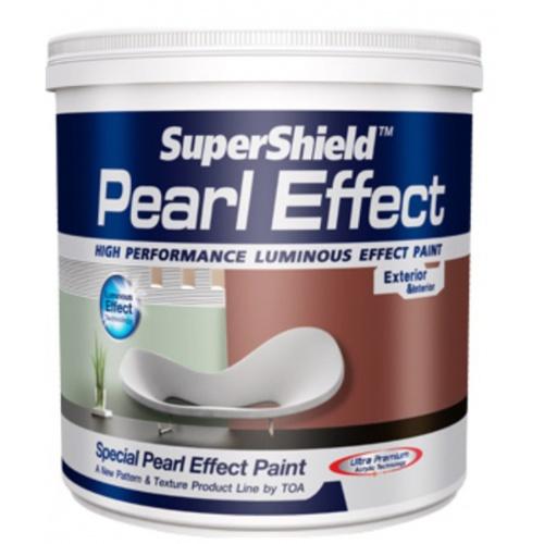 TOA Supershield ซุปเปอร์ชิลด์ เพิร์ล เอฟเฟค 1 กล  #0S013 สีขาวประกายมุข