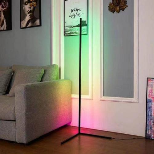 EILON โคมไฟตั้งพื้นโมเดิร์น RGB 20w พร้อมรีโมท สูง 1.45m  รุ่น ALD-03 สีดำ