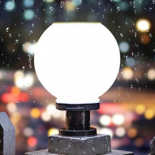 EILON โคมไฟหัวเสาโซล่าร์เซลล์ 10W ปรับได้ 2 แสง ขนาด 200*300mm   JD-X70-20DW 3000K+6500K
