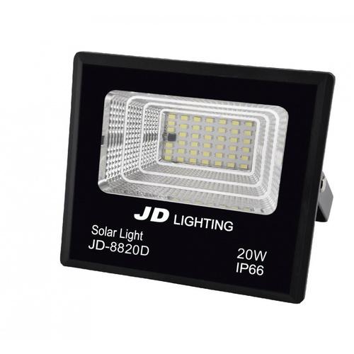-  ไฟสปอร์ตไลท์โซลาร์เซลล์ เดย์ไลท์ 20W  JD-8820D สีดำ