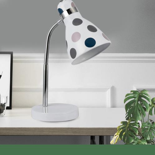 ELON โคมไฟตั้งโต๊ะ Fancy  MT53067-1C สีขาว