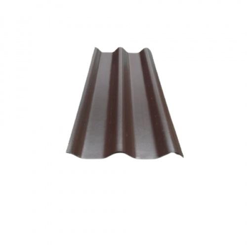 ห้าห่วง ลอนคู่  0.5x50x120ซม.สีน้ำตาลคลาสสิค