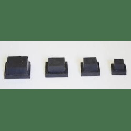 S.S.P. ยางขาโต๊ะเหลี่ยมตัน สวมใน (4ชิ้น/แแพ็ค) 1.1/2 นิ้ว สีดำ