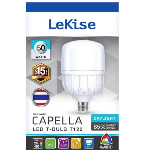 LEKISE หลอดไฟ LED Capella T-Bulb DL 50W T120 CAPELLA  ขาว