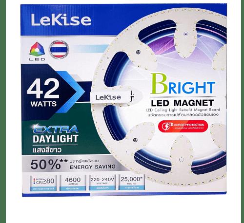 LEKISE ชุดเปลี่ยนหลอดโคมไฟเพดาน LED MAGNET 42 วัตต์ แสงขาว  EXD_BRIGHT สีขาว