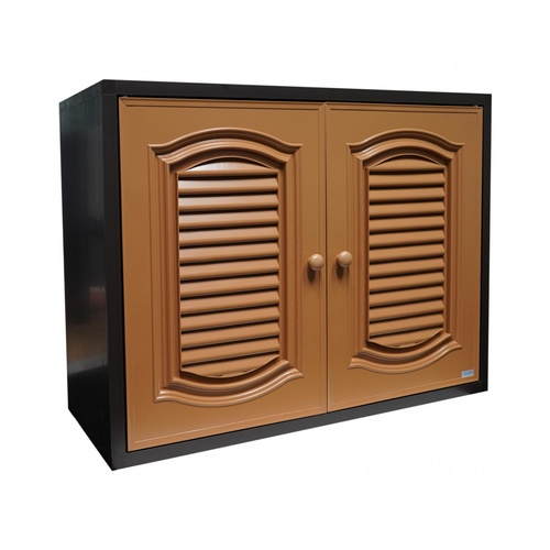 CLOSE ตู้แขวนคู่ PVC ขนาด 86x66x34 CM.  CASTELLO สีสัก