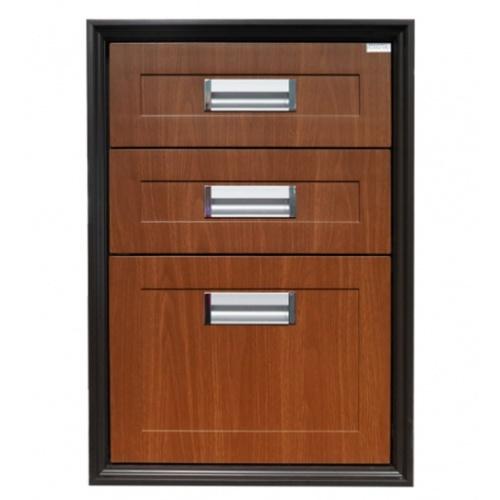 CLOSE ตู้ลิ้นชัก 3 ชั้น  ABS BROWNIEขนาด 45.5x65.5x50 ซม. สีน้ำตาลพรีเมี่ยม