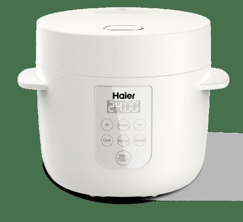 HAIER หม้อหุงข้าวดิจิตอล 1 ลิตร HRC-E11201W สีขาว