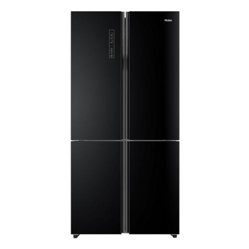 Haier ตู้เย็น 4 ประตูหน้าบานกระจกแก้ว 22.6 คิว HRF-MD620  สีดำคริสตัล
