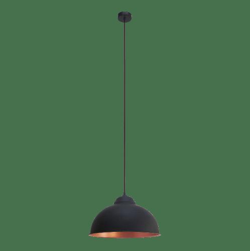 EGLO โคมไฟห้อย  TRURO 2 E27 1x60W สีดำ