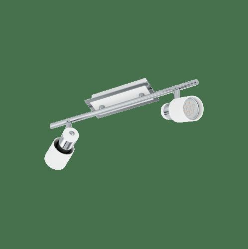EGLO โคมไฟแทรกไลท์พร้อมราง  DAVIDA GU10-LED 2x5W EGLO สีขาว