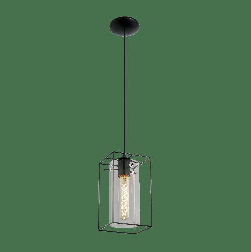 EGLO โคมไฟห้อย  Loft LONCINO E27 1x60W สีดำ
