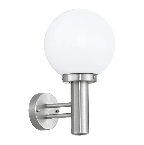 EGLO โคมไฟติดผนัง ภายนอก E27 /1x 60W   NISIA สีขาว