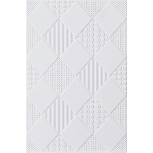 Marbella 8x12 กระเบื้องบุผนัง วอลลี่ไวท์ ZX2018 (25P) A. (Gloss) สีขาว