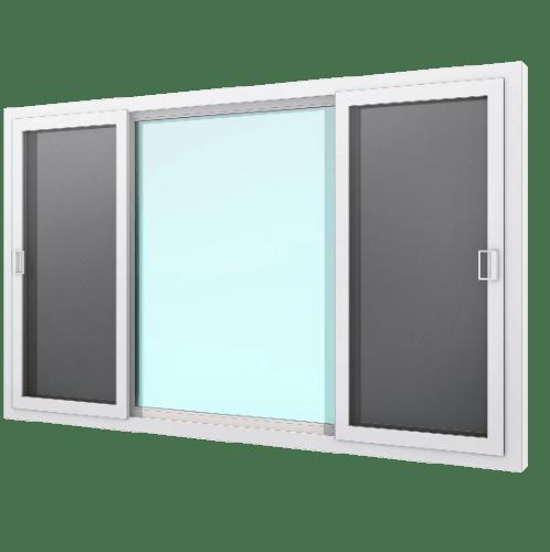 WINDOOR หน้าต่างไวนิลเลื่อนพาโนราม่า ขนาด 180x110ซม.  Ready สีขาว