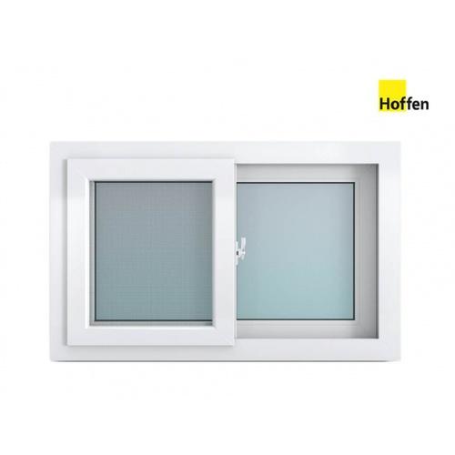 Hoffen หน้าต่างบานเลื่อนไวนิล SS ขนาด 80cm.x50cm.  พร้อมมุ้ง  W7  สีขาว