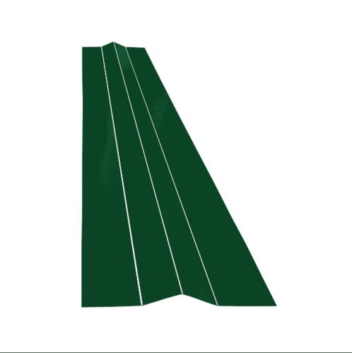 ตอง111 สังกะสีแผ่นหลบ  ครอบสังกะสี  สีเขียว