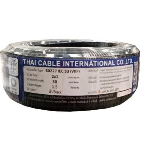 Global Cable สายไฟ VKF  IEC53 2x1 30เมตร สีดำ